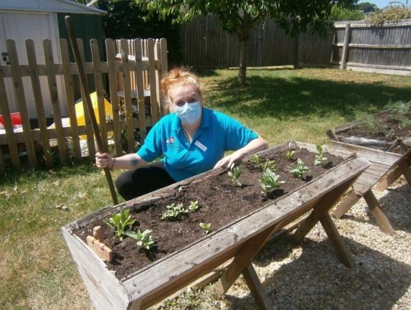 Residents and staff team up to create garden allotment
