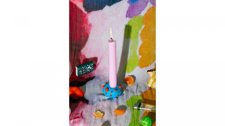 'Quarantine shrine. Created a candle holder out of playdough. Visual diary under lock', Lisa Yang