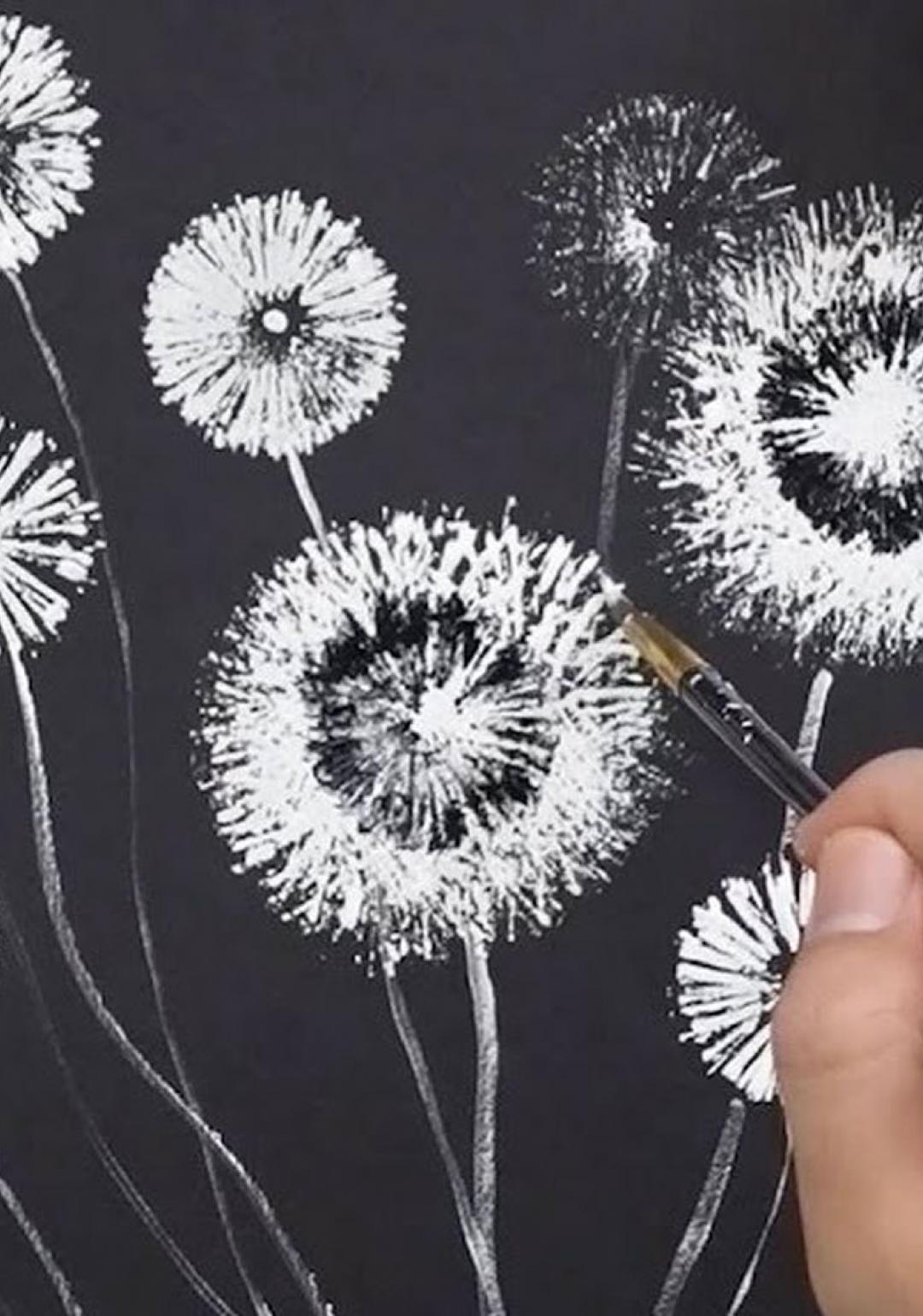 Craft Activity: Dandelion Painting