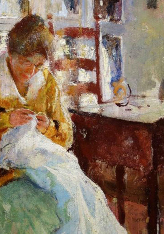 The Dress Maker (1915)by CharlesWebsterHawthorne
