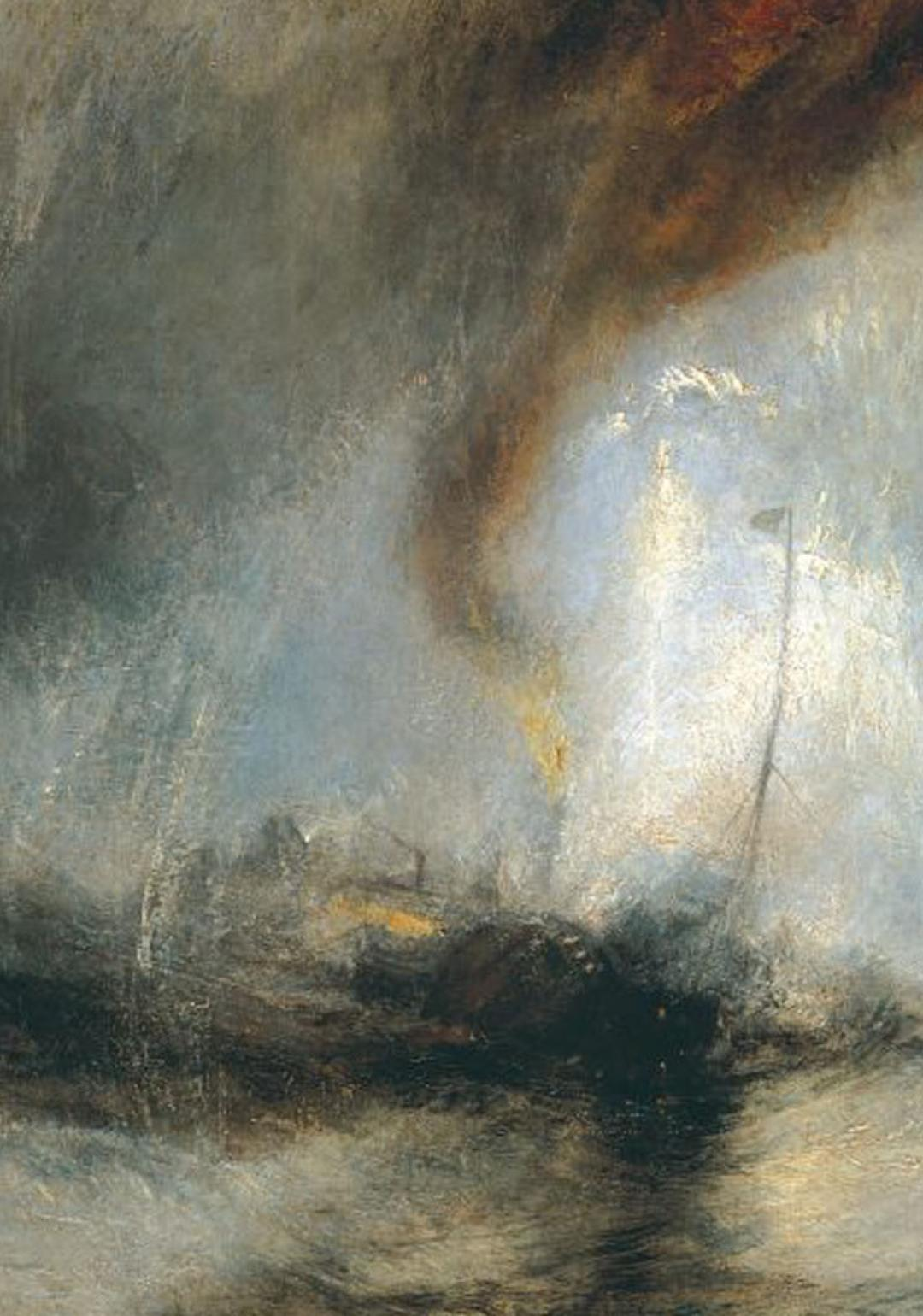 Snow Storm Steam Boat in Harbour Mouth by J. M. W. TURNER, CIRCA 1842