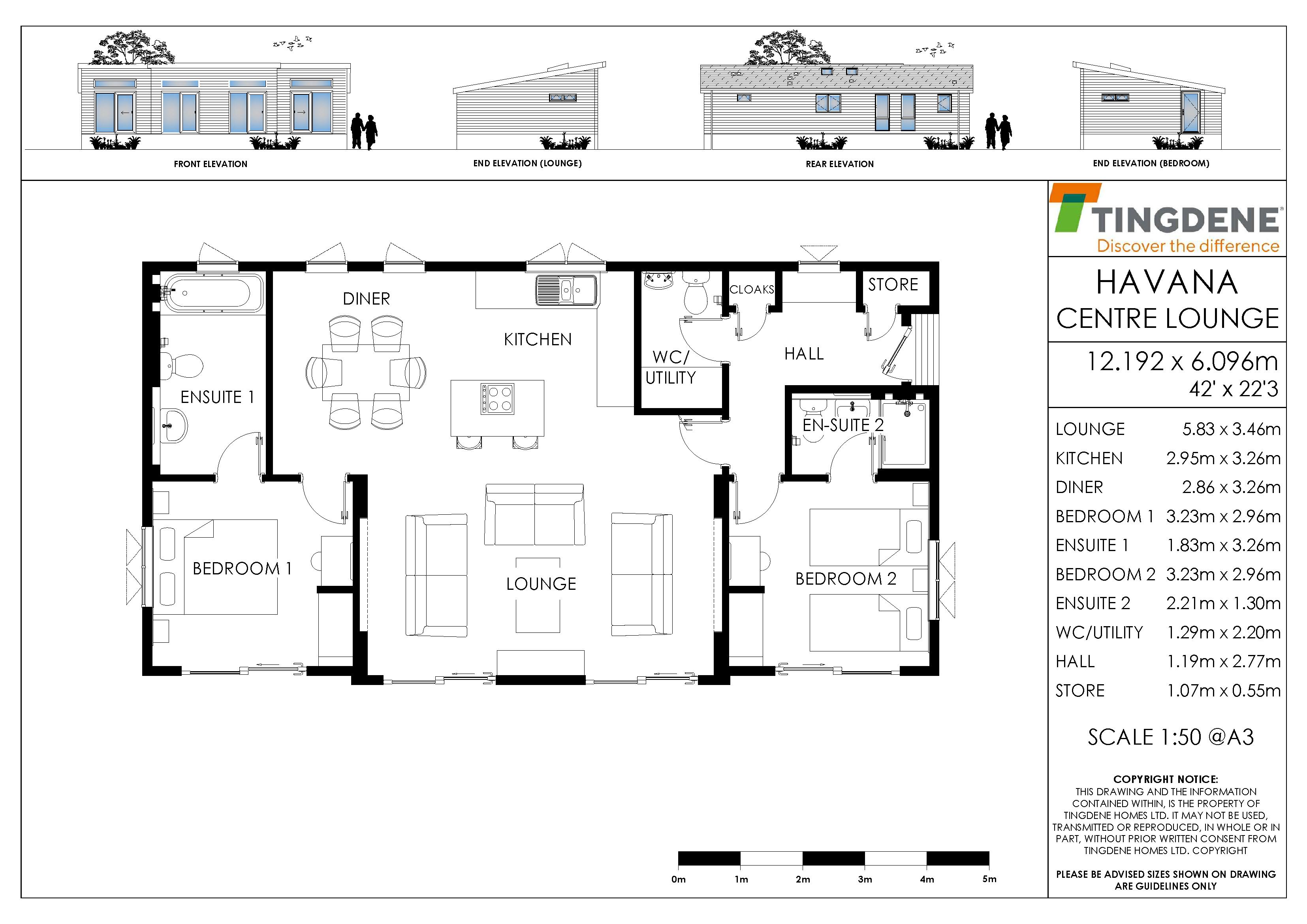 The Havana Centre Lounge Floorplan