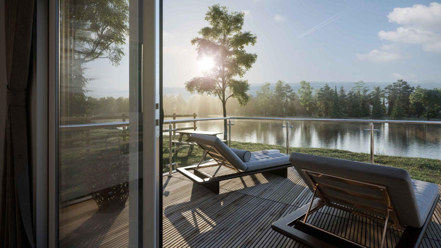 Quantum holiday lodge deck